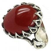 انگشتر نقره عقیق دور اشکی مرغوب مردانه