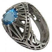 انگشتر نقره توپاز سوئیس سلطنتی مردانه