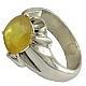 انگشتر نقره یاقوت آفریقایی زرد شاهانه مردانه