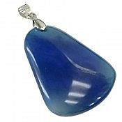 مدال عقیق آبی خوش رنگ