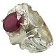 انگشتر نقره یاقوت آفریقایی سرخ سلطنتی مردانه