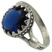 انگشتر نقره سنتاتیک خوش رنگ مردانه