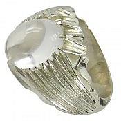 انگشتر نقره در نجف شفاف مردانه دست ساز