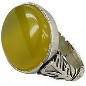 انگشتر نقره عقیق حکاکی شرف الشمس طرح صفوی مردانه