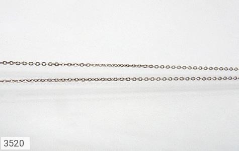 عکس زنجیر نقره ایتالیا حلقه ای 40 سانتی