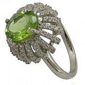انگشتر نقره زبرجد فاخر زنانه