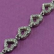 دستبند نقره طرح قلبی زنانه