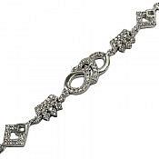 دستبند نقره طرح شیما زنانه