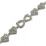 دستبند نقره طرح سوگند زنانه