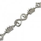 دستبند نقره طرح تاج زنانه