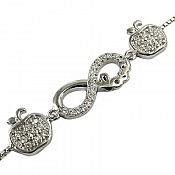 دستبند نقره طرح مهتاب زنانه