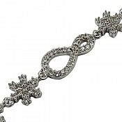دستبند نقره طرح مهگل زنانه
