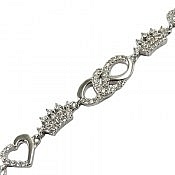 دستبند نقره طرح مهین زنانه