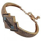 دستبند نقره طرح نادیا زنانه