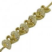 دستبند نقره طرح ماهرخ زنانه