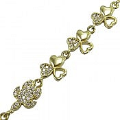 دستبند نقره طرح آیسان زنانه