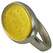 انگشتر نقره عقیق حرز و تربت کربلا حکاکی شرف الشمس مردانه
