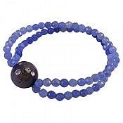 دستبند جید و عقیق بنفش زنانه