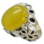 انگشتر نقره عقیق حکاکی شرف الشمس فاخر مردانه