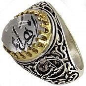 انگشتر نقره در نجف حکاکی یا زهرا رکاب یا حسین مردانه