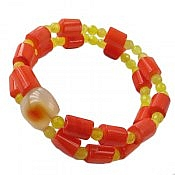 دستبند مرجان و عقیق طرح ساره زنانه