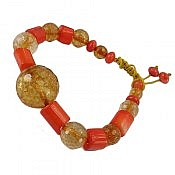 دستبند مرجان و جید طرح سیما زنانه