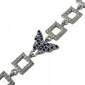 دستبند نقره طرح شیدا زنانه