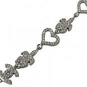 دستبند نقره طرح سوگل زنانه