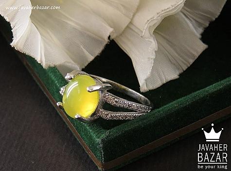 انگشتر نقره جید شرف الشمس زنانه