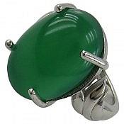 انگشتر نقره عقیق یمن سبز زنانه