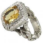 انگشتر نقره سیترین شاهانه مردانه