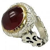 انگشتر نقره یاقوت سلطنتی مردانه