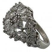 انگشتر نقره سولیتر زیبا و مجلسی زنانه