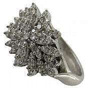 انگشتر نقره سولیتر طرح ساره زنانه