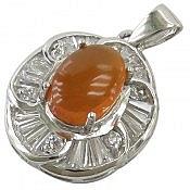مدال نقره عقیق یمن حکاکی شرف الشمس