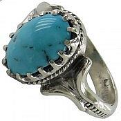 انگشتر نقره فیروزه نیشابوری سلطنتی مردانه
