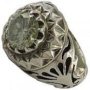 انگشتر نقره موزونایت شاهانه مردانه