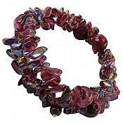 دستبند عقیق و کریستال طرح شبنم زنانه