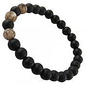 دستبند انیکس و عقیق مردانه