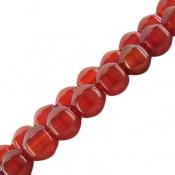 تسبیح عقیق 33 دانه سرخ تراش ممتاز متوسط