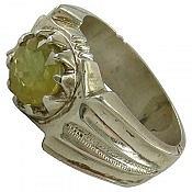 انگشتر نقره یاقوت شاهانه مردانه