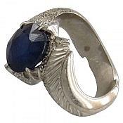 انگشتر نقره یاقوت کبود سلطنتی مردانه