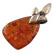 مدال نقره کهربا روسی عسلی رنگ