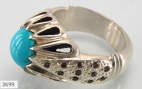 عکس انگشتر الماس و فیروزه نیشابوری مرغوب مردانه