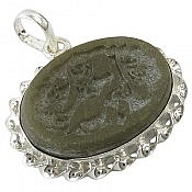 مدال نقره یشم حکاکی یا رقیه