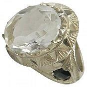 انگشتر نقره در نجف یاقوت شاهانه مردانه