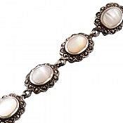 دستبند نقره طرح صدف زنانه