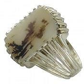 انگشتر نقره عقیق هندی شجر خوش نقش مردانه دست ساز