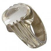 انگشتر نقره در نجف زلال مردانه دست ساز
