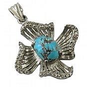 مدال نقره فیروزه نیشابوری طرح پروانه